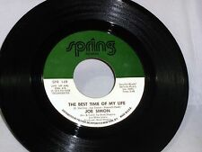Joe Simon: The Best Time of My Life / What We Gonna Do Now  [Unplayed Copy]