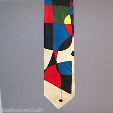 UTOPIA Multi Shaped Geometric Design Silk Neck Tie #187