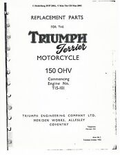 Triumph Parts Manual Book 1954 Terrier 150 OHV From engine number T15-101
