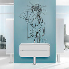 Wall Decal Geisha Vinyl Japan Asia Sakura religion hieroglyph drawing i122