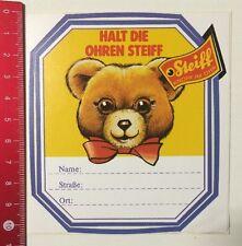 Aufkleber/Sticker: Steiff - Knopf Im Ohr - Adressaufkleber (080516112)