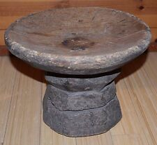 Antique African Tribal Dogon People Carved Wood Stool Chair From Mali, Africa