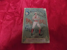 1892 Spalding Baseball Guide - Vintage Sports Publication