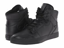 NEW SUPRA VAIDER BLACK BLACK LEATHER 08201-081 HIP HOP SKATEBOARDING SHOES 11