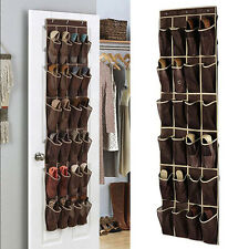 24 Pocket Shoe Door Hanging Organizer Rack Wall Bag Closet Oxford