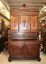 Beautiful French Antique Oak  Renaissance Buffet / Hutch