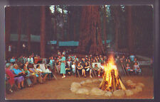 CALIFORNIA CA KINGS CANYON NATIONAL PARKS Evening Campfire Sequoia Postcard PC
