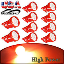 10X Red T10 Side Wedge COB Car Instrument Cluster LED Light Bulbs W5W 194 168 US