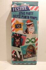 Christmas Party Selfie Photo Props for Holiday Pictures Set of 10 NEW