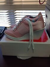 Nine West Preston Wedge Pink Women's Sneaker Size 6.5