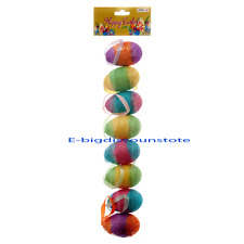 8 Glitter FOAM EASTER EGGS hanging wreaths, crafts decorations baskets ornaments