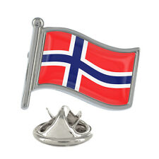 Norway Wavy Flag Pin Badge Scandinavian Oslo Norwegian Bergen New & Exclusive