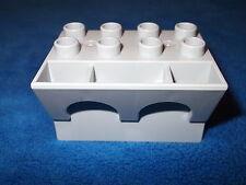 LEGO DUPLO ritterburg de 4777 + 4864 unteteil pièce de rechange parapets étain gris clair