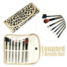 7 PCS LEOPARD GOLD BRUSH SET PROFUSION MAKEUP COSMETIC APPLICATOR EYE LIP BROW