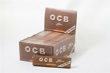 1 box,OCB VIRGIN Unbleached Rolling Paper King Size With Filter Tips,32 booklets