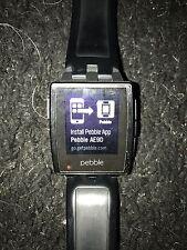 Smartwatch-Pebble Steel Smartwatch, Nero, cinturino nuovo recente, SCATOLA ORIGINALE