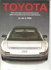 Catalogue brochure Katalog Prospekt GAMME TOYOTA ANNEE 1986 39 PAGES