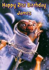 E.T the EXTRA TERRESTRIAL PERSONALISED A5 BIRTHDAY CARD with FREE 10x15 PRINT