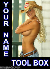 NAKED SEXY GIRL PERSONALIZED SIGN FOR YOUR TOOL BOX  LARGE MAGNET