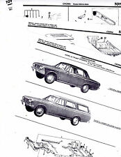 TOYOTA CROWN MODELS MS53 STATION WAGON MS55 SEDAN BODY PART LIST CRASH SHEETS MO