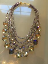NWOT Sparkly Purple Stunning Statement Necklace Anthropologie