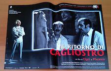 IL RITORNO DI CAGLIOSTRO fotobusta poster Ciprì Maresco Robert Englund
