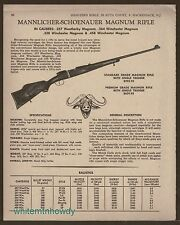 1968 MANNLICHER-SCHOENAUER Magnum Rifle AD w/prices for Standard & Premium Grade