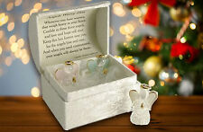 Gift Angel Memory Keepsake Guardian Angel Worry Box and inside Poem