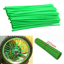 72x Green Motocross Dirt Bike Enduro Wheel Rim Spoke Wraps Skin Cover Motorcycle