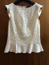 Hugo Boss Lace Peplum Top Uk 8