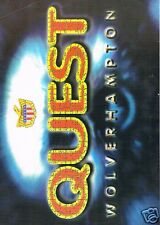 QUEST Rave Flyer Flyers 30/9/95 A4 Broad Street Wolverhampton