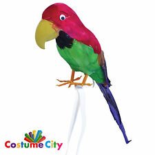 "Feather Covered 15"" Parrot Pirate Captain Fancy Dress Costume Accessory"