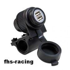 12 V Doppel - USB - Bordsteckdose , Steckdose , Motorrad , Roller , NAVI !
