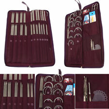 104Pcs Circular Straight Long Short Knitting Needles Crochet Hook Weave Kit Set