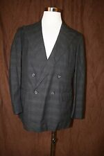 Polo Ralph Lauren Double Breasted Blazer Suit Jacket Coat Wool Made in USA 42R