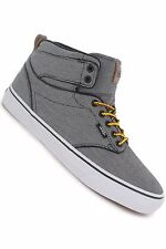 Vans Atwood Hi (Textile) Black/White Men's Skate Casual Sk8 Shoes SIZE 12