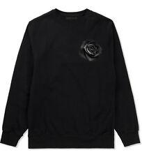 Kings Of NY Black Noir Flowers Roses Crewneck Sweatshirt