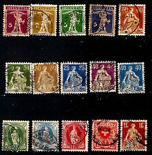 SUISSE timbres ancien 1891/1909 William Tell's et emblemes  G58