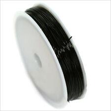Hilo de Nailon Elástico 0.5mm Negro bobina DE 12 metros
