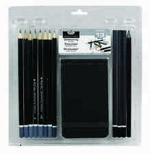 13 PIECE GRAPHITE SKETCHING & DRAWING PAD ART SET CHARCOAL PENCIL RART-2102-3T