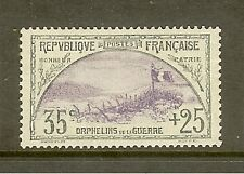 """FRANCE STAMP TIMBRE N° 152 """" ORPHELINS 35c+25c TRANCHEE ET DRAPEAU """" NEUF xx SUP"""