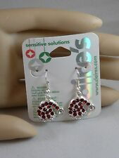 Claire's Sensitive Christmas Santa's Red Hat Rhinestones  Earrings USA SELLER