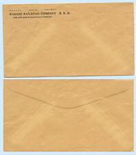 Wabash Ann Arbor Railroad Company Stationery Envelope 1958