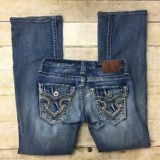 Big Star Sweet Boot Ultra Low Rise Jeans Size 24 Flap Pockets 439