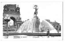 1915 Pan Pacific Expo PPIE Real Photo Postcard RPPC ~ Fountain of Energy, No. 9