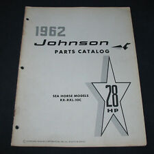 Parts Catalog Johnson Sea Horse Models RX RXL 10C 28 HP Ersatzteilkatalog 1962!