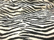 "KosiKrafts 60"" Zebra Faux Fur  Fabric Material By The Metre"
