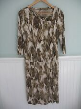 Ellen Tracy Drop Waist Snakeskin Print Dress - Size Medium/M