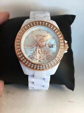 Ed Hardy Women's Jolie JO-PT White Stainless-Steel Quartz Watch White Dial-H59