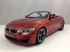 GT Spirit BMW M4 F83 Cabriolet Convertible Metallic Orange Resin Car Model 1/18